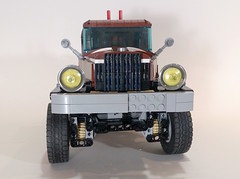 1946 Dodge Power Wagon 62.4 Trial Truck front (koffiemoc) Tags: car truck power lego dodge functions trial moc 624 lowlug