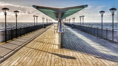 Light & Dark Symmetry (Thank you for 4M+ views.) Tags: wood uk light shadow sea sky reflection green metal clouds canon dark landscape eos pier echo grain symmetry 7d instrument tune february bournemouth chimes boscombe 2016 nickfewings