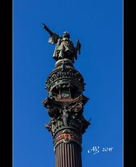 Columbus Monument (amandia) Tags: barcelona columbus monument statue spain military bcn catalonia lasramblas portauthority columbusmonument gobiernomilitar