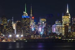 NYC Nocturnal Colors II (Lojones13) Tags: newyork colors skyline night lights cityscape nocturnal