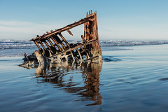 2016-01-10 - Peter Iredale Shipwreck-47 (www.bazpics.com) Tags: ocean sea usa beach water oregon america skeleton sand ship pacific or wave peter shipwreck frame hull wreck iredale