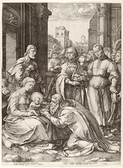 Hendrick Goltzius The Adoration of the Magi Netherlands (c. 1590s) Engraving; 47 x 35 cm. The Metropolitan Museum of Art I think the detail on this piece in particular is especially painstaking: (medievalpoc) Tags: art history netherlands print engraving adoration magi the 1500s hendrick goltzius medievalpoc