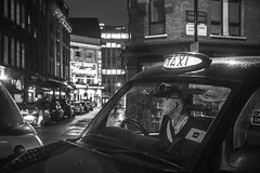 IMG_8368-2 (Zefrog) Tags: uk bw london night cab taxi mousetrap westend blackcab theatreland zefrog
