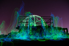 Lookout Dome (~138~) Tags: longexposure blue light canada lightpainting abstract black green art colors lines night ball dark fun lights cool colours bc awesome funky victoria dome paintingwithlight gorge trippy lightart lightpaint macauleypoint victoriaabstract