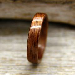 Hawaiian Koa (stoutwoodworks) Tags: wood wedding classic water one wooden engagement natural bend handmade grain band craft jewelry steam ring kind rings hawaiian strong handcrafted steamed bent alternative stout 5mm ecofriendly koa durable woodworks bentwood