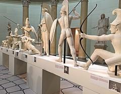 """The Struggle for Troy"" (Sandra Lee Hall) Tags: berlin art museum germany troy conflict wars trojan rotunda sculptures struggle aegina greeks violent altes"