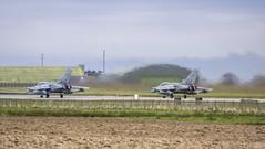 Tornadoes Take-off (prajpix) Tags: plane airplane scotland exercise aircraft military aeroplane tornado raf moray lossiemouth jointwarrior