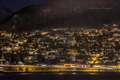 (yoko.wannwannmaru) Tags: light orange mountain snow norway march nightview cityview   20160314dsc1367n