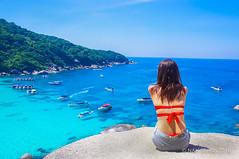 Enjoying (akira.nick66) Tags: travel sea vacation sky holiday tourism beach beautiful relax thailand island travels tour view relaxing tourist enjoy thai traveling enjoying similan niceview amazingthai amazingthailand