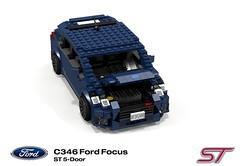 Ford Focus Mk3 ST (C346MCA 2015-Present) (lego911) Tags: auto ford car st model focus lego render company turbo motor hatch cad hatchback povray 5door c1 recaro moc mkiii mk3 ldd 2015 miniland 5dr 2010s ecoboost lego911 c346 c346mca