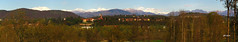 Panorama primaverile (gbistoletti) Tags: panorama primavera italia chiesa neve monterosa fiori alpi lombardia casale litta boschi provinciadivarese