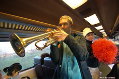 On the way home bands spontanously started playing & dancing in the train. (Red Cathedral [FB theRealRedCathedral ]) Tags: brussels music train movement peace fiesta cheerleaders belgium belgique greenpeace trumpet bruxelles demonstration antiwar immigrants majorette sax brussel crisis saxophone brassband syrian fanfare 111111 antifa neoliberalism acod pompomgirls eventcoverage aztektv toutautrechose lagrandeparade hartbovenhard degroteparade