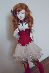 Robot in red (dev kimiko) Tags: robot doll bjd android modded msd narin whiteskin bimong raouken