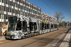 Muiderstraat - Amsterdam (Netherlands) (Meteorry) Tags: blackandwhite bw holland public netherlands dutch amsterdam europe twix noiretblanc centre transport nederland siemens tram center jeans april streetcar 13g transportencommun tramway paysbas centrum noordholland gvb livery plantagebuurt 2016 combino fullcolor meteorry publique gstarraw mrvisserplein muiderstraat meestervisserplein hortusbrug gvb2087