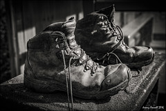 Old Boots (zolaczakl ( 2 million views, thanks everyone)) Tags: uk england blackandwhite southwest abandoned monochrome bristol mono boots april discarded 2016 stwerburghs blackandwhitebristol nikond7100 photographybyjeremyfennell bristolinmonochrome sigma1835mmf18dchsmlens