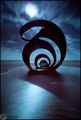 Thornton-Cleveleys, Blackpool, Lancashire (annabulka) Tags: show uk greatbritain travel blue light sunset sea england people sculpture color colour art love tourism beach nature beautiful night contrast dark landscape photography photo amazing fantastic construction travels flickr shot expression wildlife experiment tourist best lonelyplanet colourful capture beautifull turist colourfull expresion darkstyler landscepe anawesomeshot colorphotoaward colorfullaward annabulka studio999 annamarijabulka