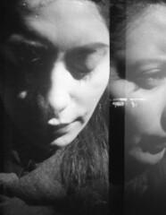 Pictures_of_you (Robert Olaf) Tags: portrait byn film by portraits lomo lomography doubleexposure grain pelicula exposicion doble 400iso grano lomografia lomografica scharon ildford dianamini