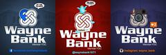 Wayne Bank Social Media Platforms (Justin Roach Work Stuff) Tags: advertising design graphicdesign bank batman brucewayne waynebank
