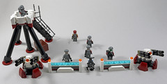 Perimeter Defenses (MaverickDengo) Tags: infantry robot ship lego space military helicopter walker futuristic speeder mech hovercraft drone defenses starfighter