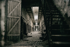 Foreboding (www.facebook.com/h0bieph0t0) Tags: door old philadelphia 35mm dark nikon pennsylvania hallway creepy prison staircase d750 historical philly derelict easternstatepenitentiary penitentiary
