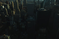 Dark Buildings (Felipe Gonzlez photography) Tags: street nyc newyorkcity urban buildings dark manhattan rockefellercenter cinematic topoftherock
