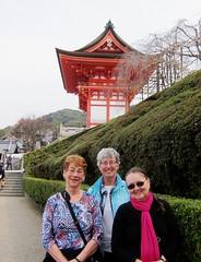 Penny Nancy Leena at Kiyomizu Temple Complex (pennykaplan) Tags: japan kyoto nancy penny kiyomizu leena