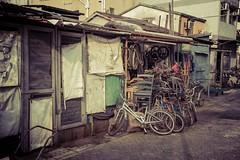 -Bike repair shop in Tai O. (AllenPan02) Tags: street old bike shop hongkong o sony feel tai  reminiscence