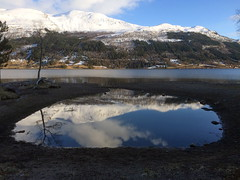 Jlstravatn -|- Big lake, small lake (erlingsi) Tags: reflection norway landscape mirror iphone sogn erlingsi spegel spegling speiling jlster jlstravatn svidalsneset