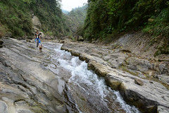 Heading Back Downstream 2 (Bob Hawley) Tags: people pets mountains dogs nature water forest outdoors asia hiking taiwan streams nikon1755f28 yunlincounty nikond7100 taiwantugou qingshuiriver