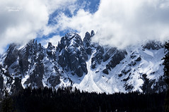 Dolomites (mariola aga) Tags: winter sky snow mountains clouds spring dolomites southtyrol thegalaxy