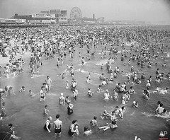 This general view from the Steeplechase Pier shows part of the crowded beach at Coney Island in Brooklyn N.Y. Aug. 28 1948; [1029 x 851] #HistoryPorn #history #retro http://ift.tt/1TjrMCs (Histolines) Tags: from ny history 1948 beach brooklyn island this pier view general x retro part timeline shows 28 aug coney crowded 851 steeplechase 1029 vinatage historyporn histolines httpifttt1tjrmcs