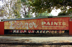 Berger Paints (Malleeroute) Tags: sign iron paint advertisment paints galvanised berger advertise burra