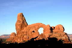 Turret Arch at Sunrise (Arches) (Jay Costello) Tags: park red window sunrise utah arches moab fin archesnationalpark turret turretarch