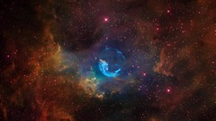 Animation - Approaching the Bubble Nebula (Hubble Heritage) Tags: video 3d visualization hubble bubblenebula ngc7635