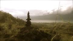 le cairn du Mont Batur  - 07 (Franois le jardinier de Marandon) Tags: bali cairn landart batur rockbalance indonsie franoisarnal