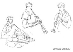 Surpluz - hurdy-gurdy & clarinet (Tineke Lemmens) Tags: music clarinet hurdygurdy tinekelemmens