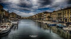 Petite Venise... (Tra Te E Me (TTEM)) Tags: sky reflection clouds photoshop boat ciel nuages bateau reflets hdr photomatix lumixfz1000