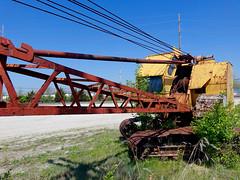 Old abandend crane (mrgraphic2) Tags: abandoned crane indianapolis indiana rusted