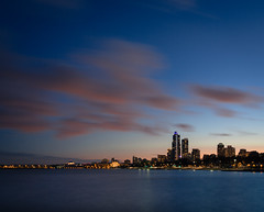 South Loop Blues (Philocycler) Tags: longexposure chicago lakemichigan bluehour southloop chicagoist canon5dmarkiii