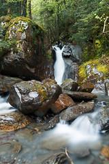 La dame blanche (virginie kriegel) Tags: longexposure green nature rock montagne eau paysage cascade extrieur ruisseau pyrenes