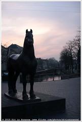 Auke Hettema | Het Friese Paard (1981) (Dit is Suzanne) Tags: sculpture art netherlands bronze kunst nederland 1981 friesland leeuwarden brons   nieuwestad sigma30mmf14exdchsm views100  img4212  canoneos40d aukehettema scultpuur  hetfriesepaard 10042015  ditissuzanne