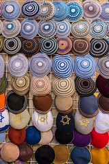 Kippot for Sale (dm556x9) Tags: israel clothing jerusalem religion jewish judaism symbols yarmulke kippa kippoth