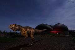 Jurassic Park IV (David (DaveAstur)) Tags: lightpainting night del children de long exposure dino asturias nocturna museo eduardo colunga darklight dinosaurio jurasico muja cajigal daveastur