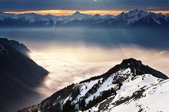 Rochers de Naye (welenna) Tags: schnee winter mist snow mountains fog landscape switzerland see nebel view berge alpen rochersdenaye vatland