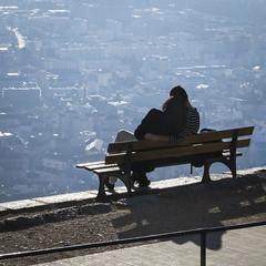 Bastille Grenoble (Nykaule) Tags: grenoble bastille ville banc contrejour amoureux isere hauteur 2015