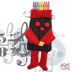 Portable pocket, Kilt Pin Sock Pocket friend, 4 those times when you need an extra pocket to store little things, ooak British Wool Recycled RustyfishKT (RustyFish101) Tags: sock sewing crochet jewellery kits etsy rustyfishkt