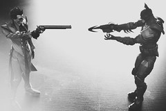 Batman vs The Joker , the last stand... (mostaphaghaziri) Tags: blackandwhite white black monochrome miniature stand nikon final batman scalemodels thejoker d7200 nikond7200 thefinalstand