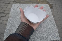 15-Sided Elliptical Noodle Container (oschene) Tags: spiral origami cone ellipse tomokofuse junmaekawa