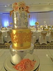 Gold & Silver Wedding Cake