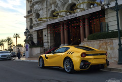 Ferrari F12 TDF (Dphotographymc) Tags: paris france cars car yellow race racecar jaune de french photography hotel automobile riviera photographie place south ferrari voiture casino montecarlo monaco mc exotic carlo monte luxury supercar luxe spotting supercars f12 tdf sportcar in principality principaut 98000 monacosupercars dphotographymc f12tdf